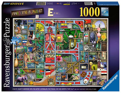 Ravensburger Colin Thompson, Awesome Alphabet 'E', 1000pc Jigsaw Puzzle