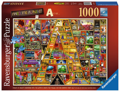 "Ravensburger Colin Thompson - Awesome Alphabet ""A"", 1000pc Jigsaw Puzzle"