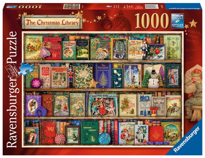 Ravensburger: The Christmas Library, 1000pc Jigsaw Puzzle