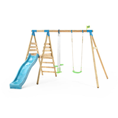 TP Toys Alaska Wooden Swing Set & Slide