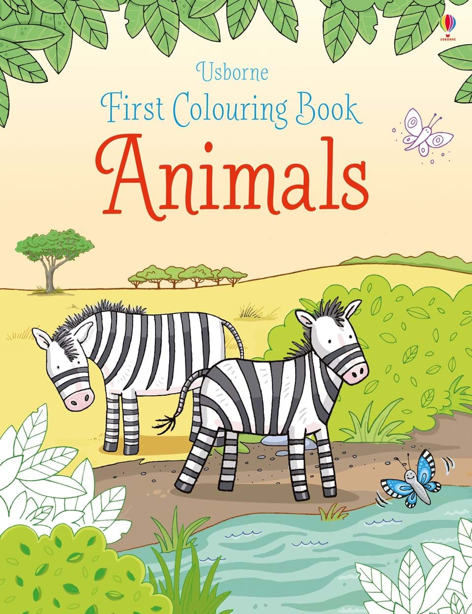 Usborne: First Colouring Book Animals - Nimble Fingers