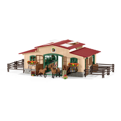 Schleich Stable With Horses And Accessories