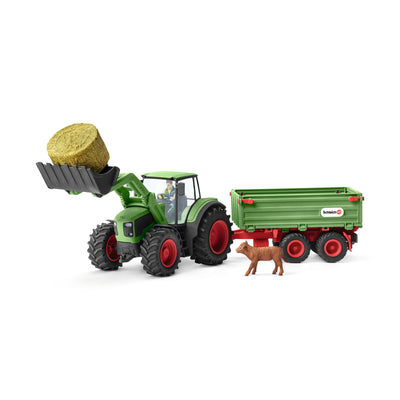 Schleich Tractor With Trailer