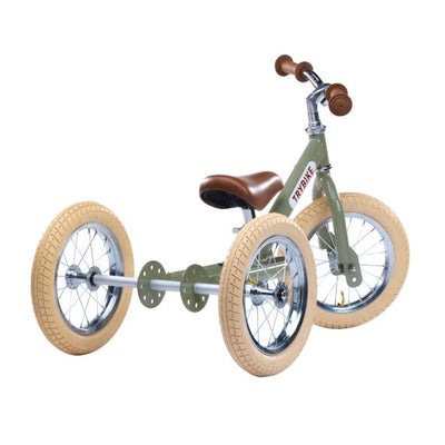 TRYBIKE 2-IN-1 STEEL TRIKE & BALANCE BIKE (Green)
