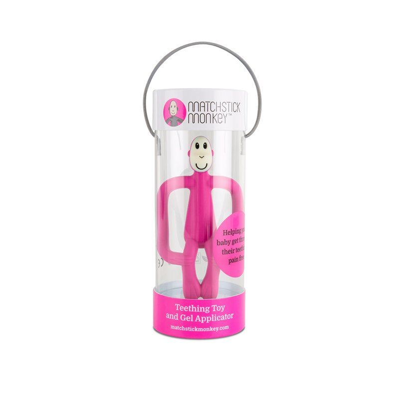 Pink Feeding Matchstick Monkey Teething Toy And Gel Applicator Other Baby Feeding