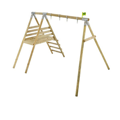 TP Toys Knightswood Double Swing Frame, Deck & Ripple Slide