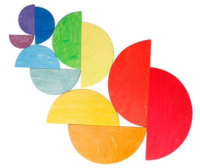 Grimm's Large Semicircles in Rainbow Colours