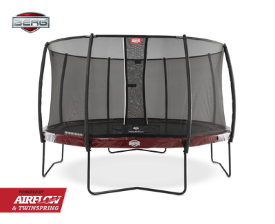 BERG ELITE 14FT TRAMPOLINE + SAFETY NET DELUXE