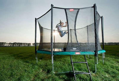 BERG Favorit 11ft Trampoline + Safety Net Comfort