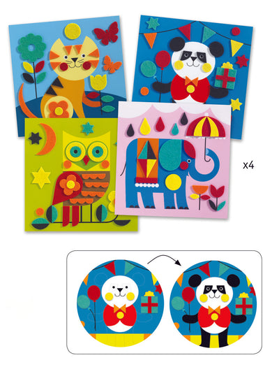 Djeco Felt Pictures: Gentle Creatures (3-6yrs)