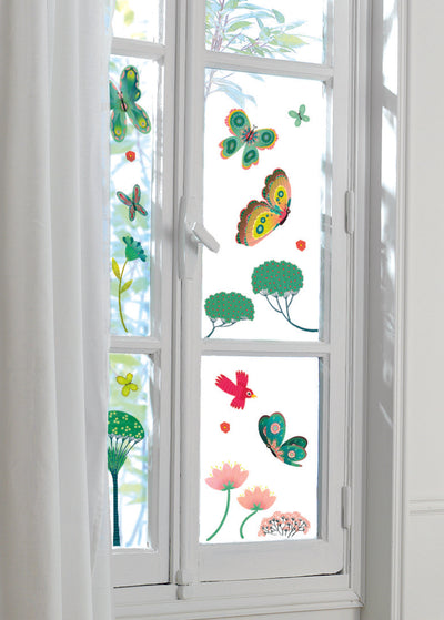 Djeco Window Stickers: Butterflies In The Garden