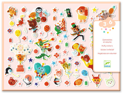 Djeco Puffy Stickers: The Party