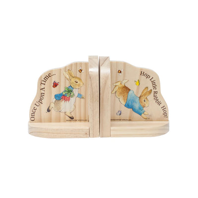 Beatrix Potter Wooden Bookends