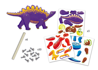 Djeco Jumping Jacks To Colour In: Dinosaurs