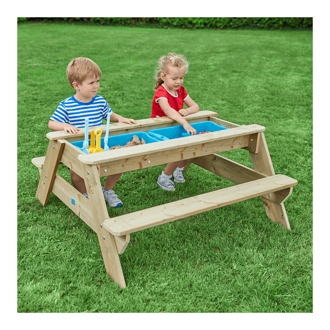 Enjoyable Tp Toys Deluxe Picnic Table Sandpit Pabps2019 Chair Design Images Pabps2019Com