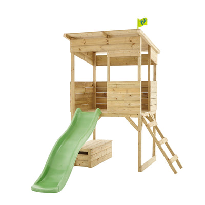 TP Toys Treetops Wooden Tower Playhouse with Toy Box & Slide