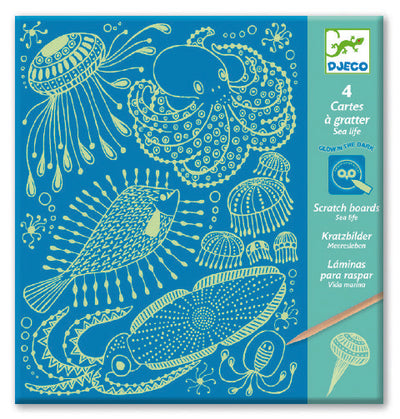 Djeco Scratch Boards: Sealife