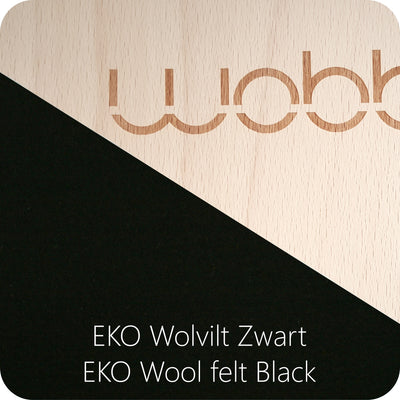 Wobbel XL (Transparent lacquer/Black Felt)