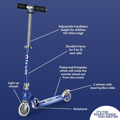Micro Sprite LED Scooter (Blue)