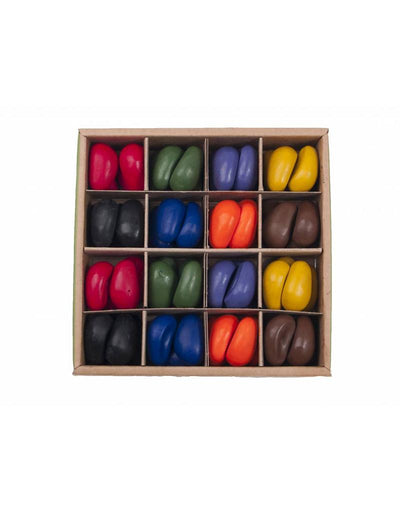 Crayon Rocks 64 crayons in 8 colors in a craft box