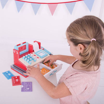 Bigjigs Toys Shop Till with Scanner