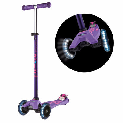 MAXI MICRO LED DELUXE SCOOTER PURPLE