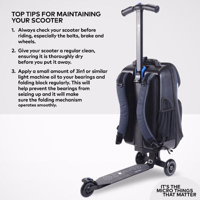 MICRO KICKPACK LUGGAGE SCOOTER