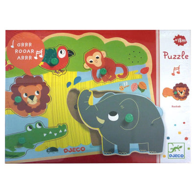 Djeco Wooden Puzzle Baobab With Animals Sounds