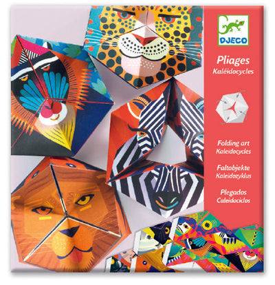 Djeco Folding Art Kaleidocycles: Flexanimals