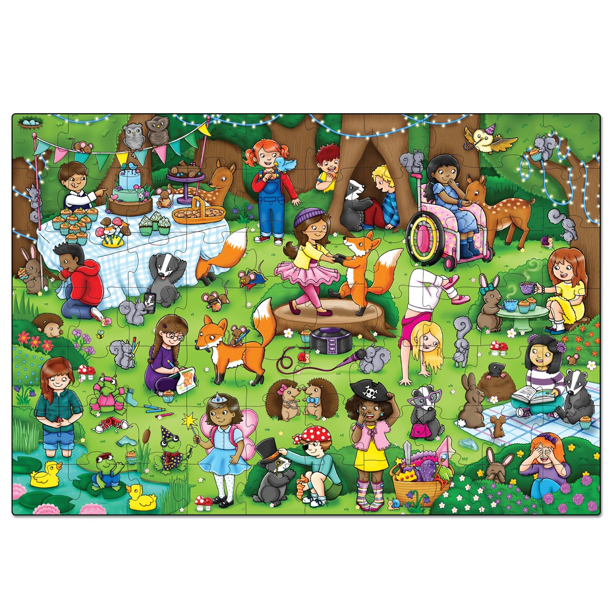 Orchard toys woodland party jigsaw puzzle nimble fingers orchard toys woodland party jigsaw puzzle gumiabroncs Image collections