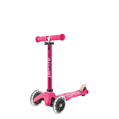 MINI MICRO LED DELUXE SCOOTER PINK