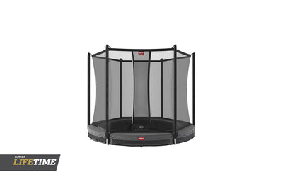 BERG FAVORIT 6.5FT INGROUND TRAMPOLINE + SAFETY NET COMFORT