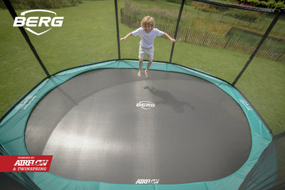 BERG Grand Champion 350 InGround Trampoline + Safety Net Deluxe
