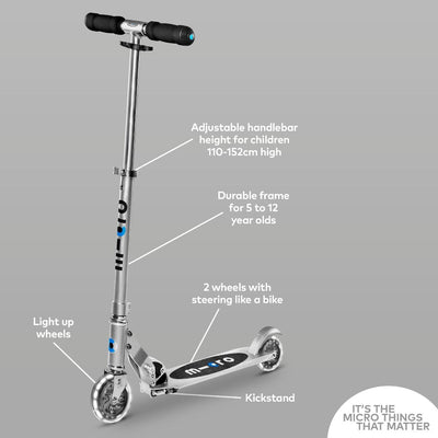 Micro Sprite LED Scooter Silver