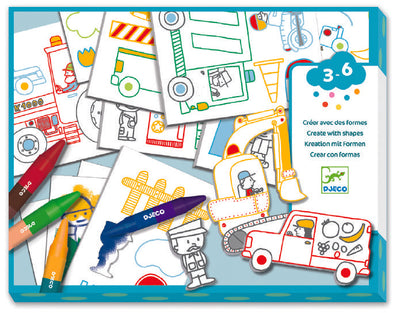 Djeco Create With Shapes: Cars