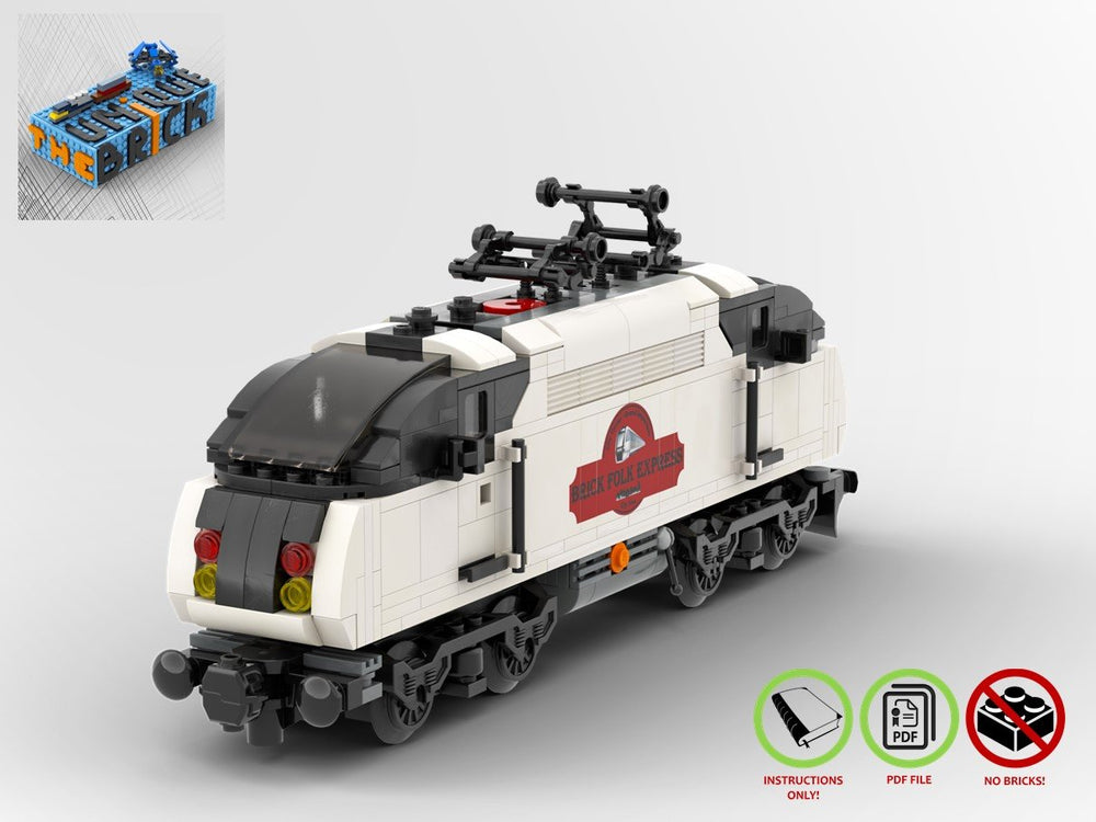 LEGO-MOC - Brick Folk Express Train - The Unique Brick