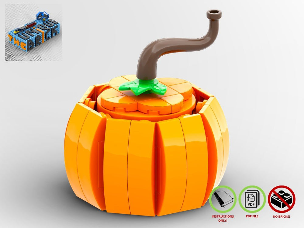 LEGO-MOC - Halloween Pumpkin - The Unique Brick
