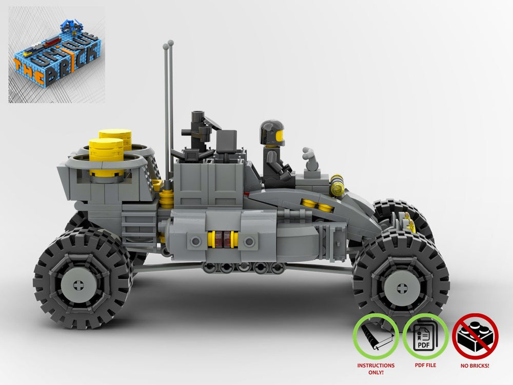 LEGO-MOC - Heavy Duty Lunar Rover - The Unique Brick