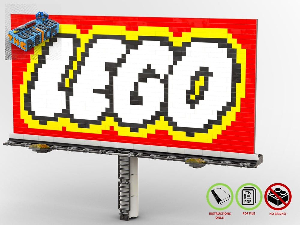 Load image into Gallery viewer, LEGO-MOC - LEGO City Welcome Sign - The Unique Brick