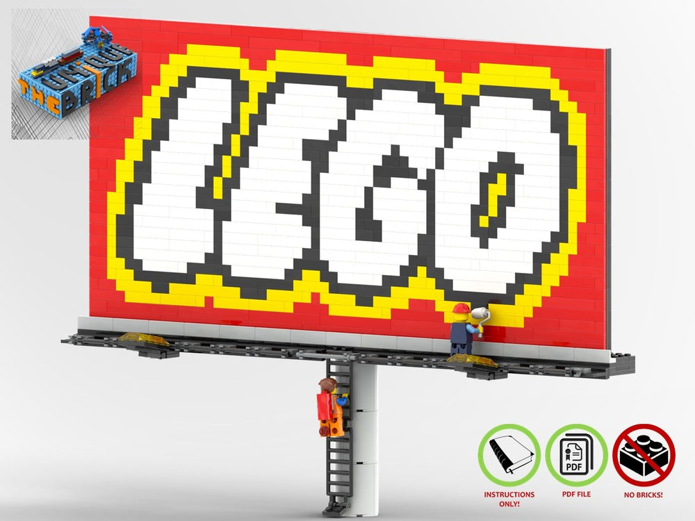 LEGO-MOC - LEGO City Welcome Sign - The Unique Brick
