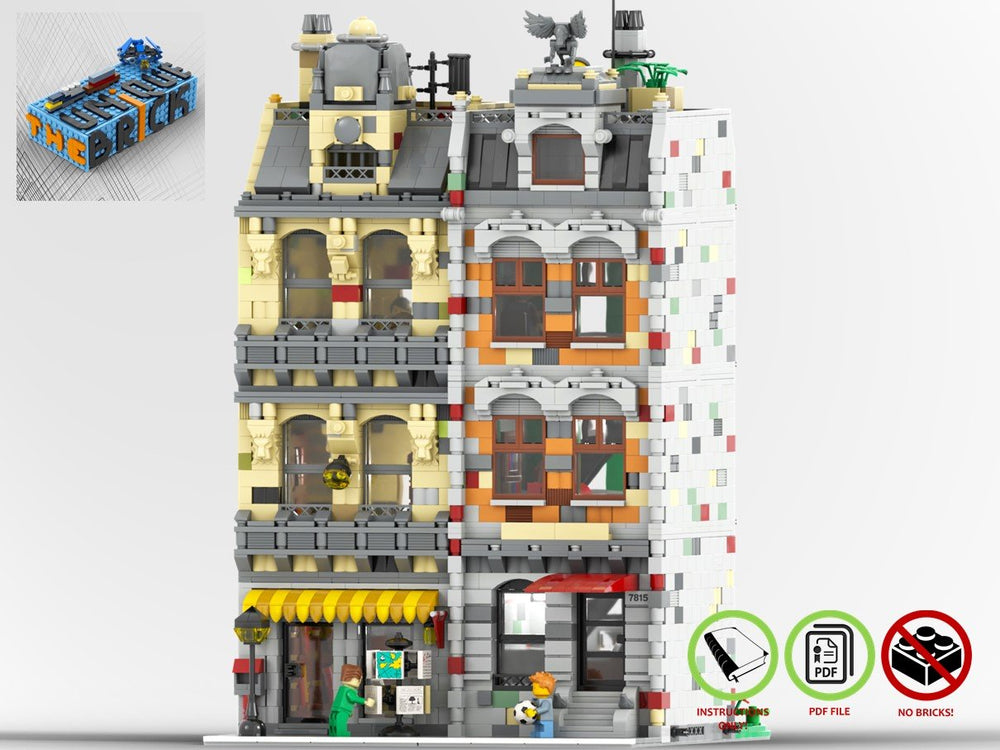 LEGO-MOC - Modular Book Store and Residence House - The