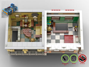 Load image into Gallery viewer, LEGO-MOC - Modular Book Store and Residence House - The