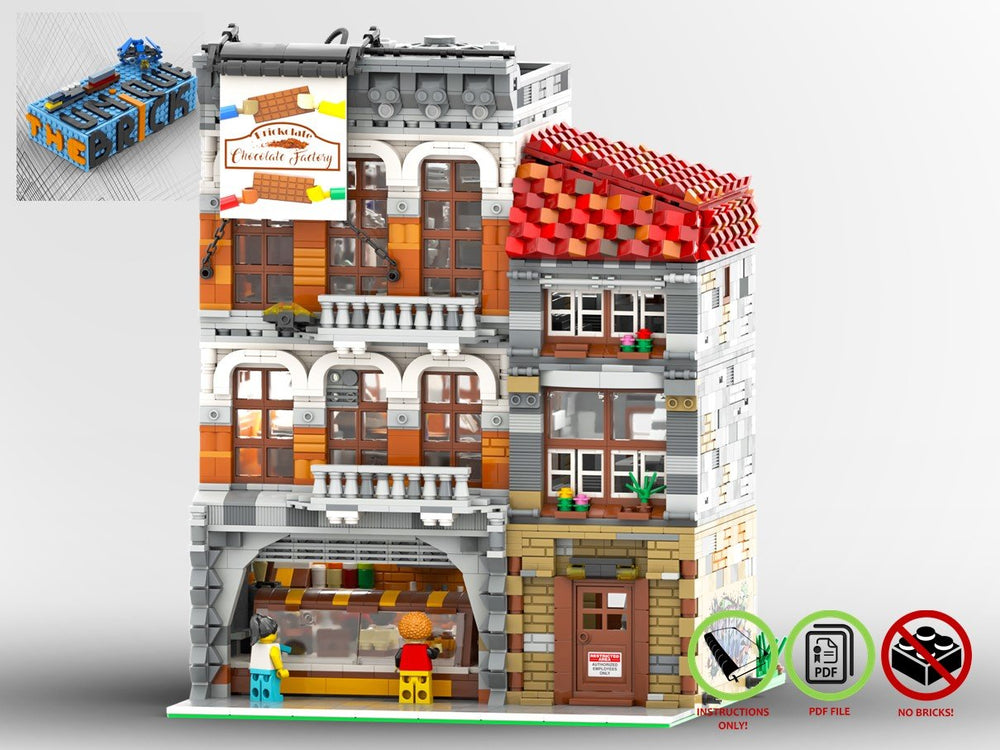 LEGO-MOC - Modular Chocolate Factory 'Brickolate' - The