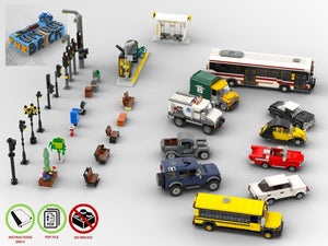 Load image into Gallery viewer, LEGO-MOC - Modular City Essentials Pack - The Unique Brick