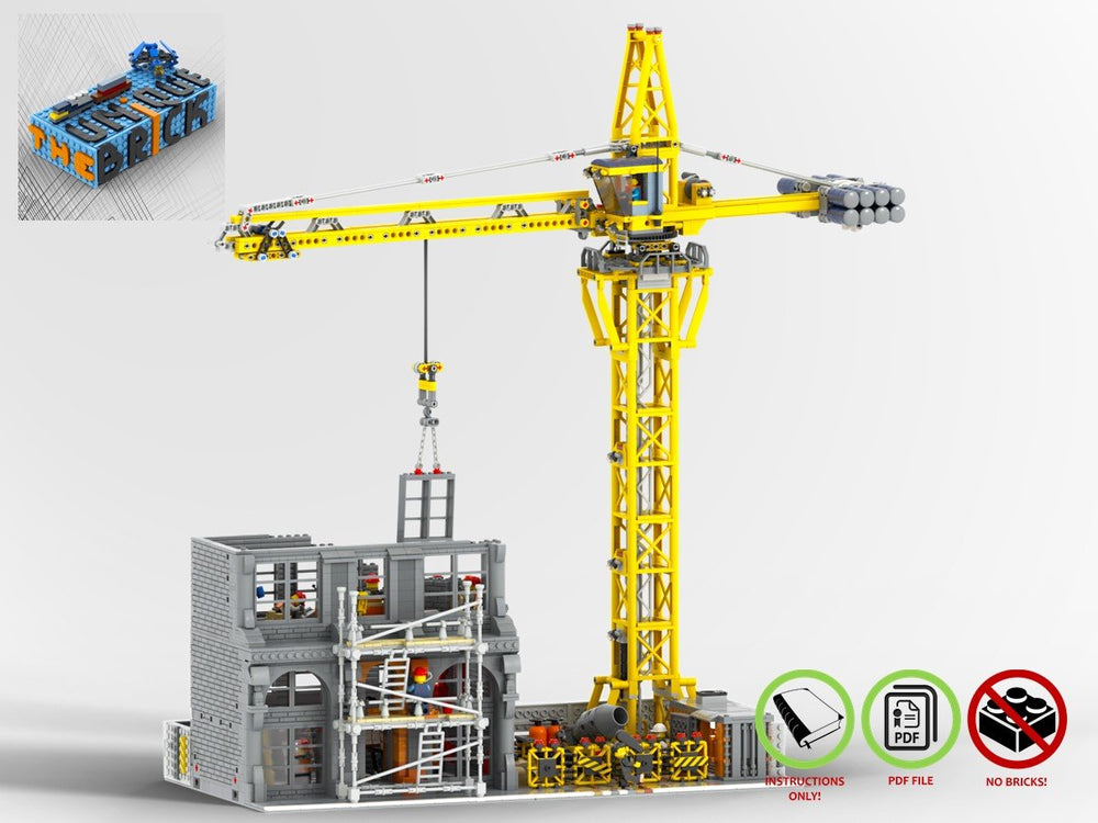 LEGO-MOC - Modular Construction Site - The Unique Brick