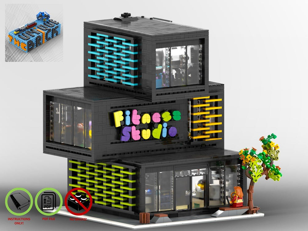 LEGO-MOC - Modular Fitness Studio - The Unique Brick