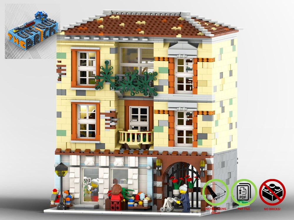 LEGO-MOC - Modular Florist - The Unique Brick