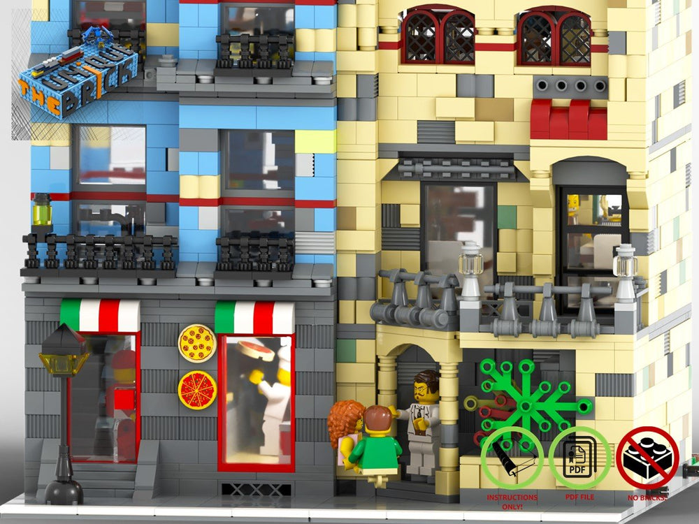 LEGO-MOC - Modular Gourmet Restaurant and Pizzeria - The