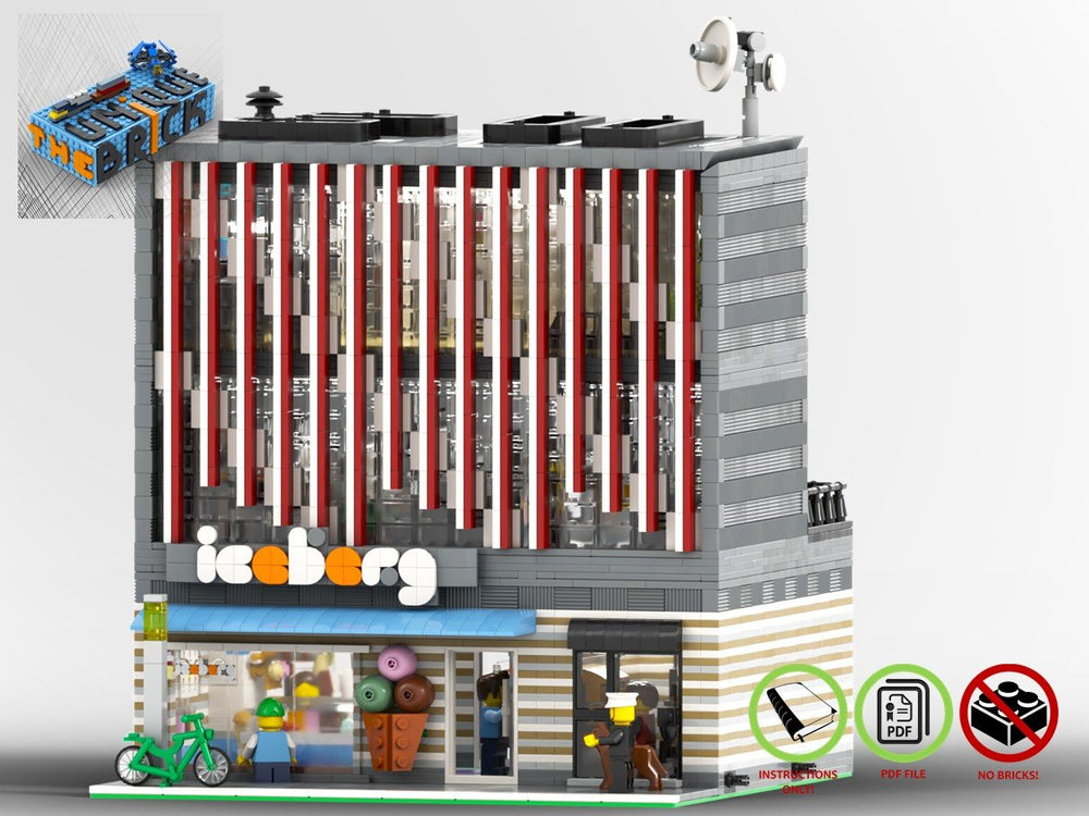 LEGO-MOC - Modular Ice Cream Parlor 'Iceberg' - The Unique