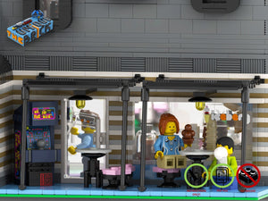 Load image into Gallery viewer, LEGO-MOC - Modular Ice Cream Parlor 'Iceberg' - The Unique